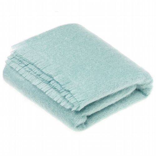 Mohair Throw - Aqua
